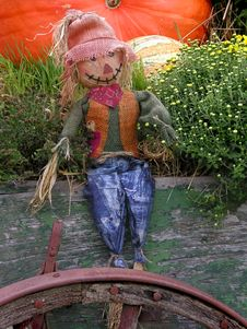 Free Autumn Scarecrow Stock Photography - 1301792