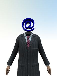 Email Head 6 Royalty Free Stock Image