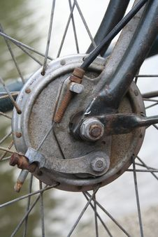 Bycicle Wheel Royalty Free Stock Photos