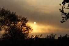 Free Foggy Lake Sunrise Stock Image - 1303511
