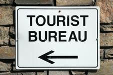 Tourist Bureau Sign Royalty Free Stock Photography