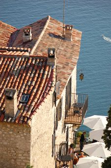 Eze 17 - Roofs Royalty Free Stock Photo