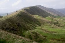 Free Ramparts Mam Tor Royalty Free Stock Image - 1305126