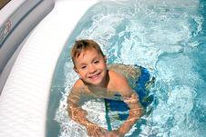 Boy In Pool Royalty Free Stock Photos