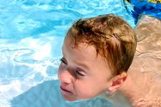 Free Boy In Pool Royalty Free Stock Image - 1305606