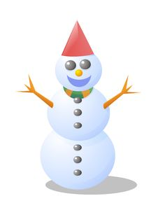 Free Snowman Royalty Free Stock Photos - 1305848