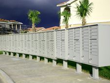 Free Row Of Mailboxes Stock Image - 1306781