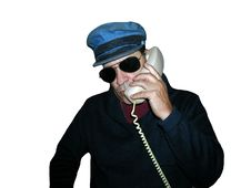 Blue Hat Shades On Phone Royalty Free Stock Image