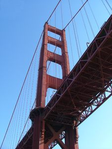 Free Underneath The Golden Gate Bridge Royalty Free Stock Photography - 1308857