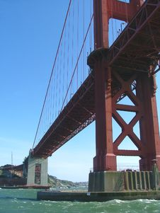 Free Underneath The Golden Gate Bridge Stock Images - 1308864