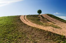 Free Ball On A Hill-1 Stock Images - 1309564