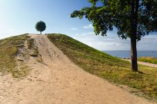 Free Ball On A Hill-2 Royalty Free Stock Photography - 1309577