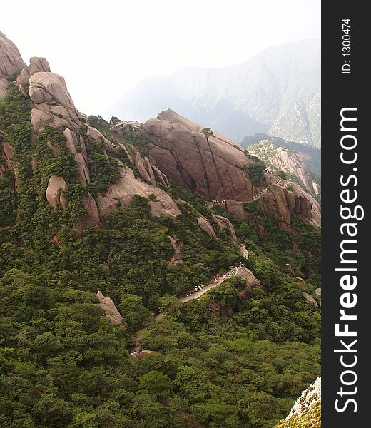 The scenery of Huangshan in China