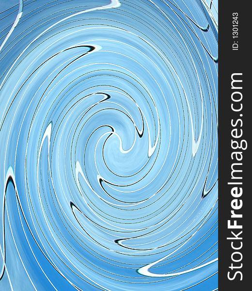 Blue black and white swirl