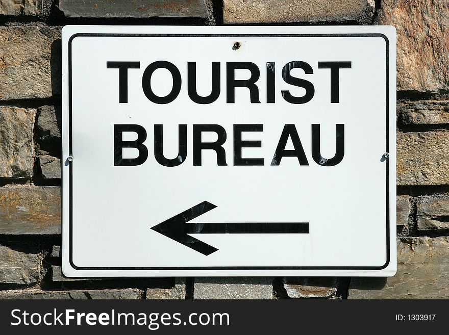 Tourist bureau sign free stock images & photos 1303917