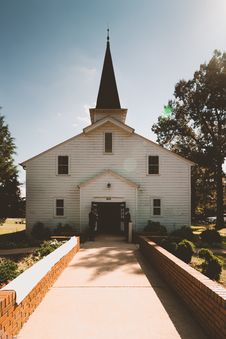 Free Two Person Standing Near White Church Stock Photo - 130178570