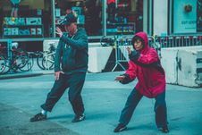 Free Photo A Man And Woman Doing Martial Arts Stock Image - 130289311
