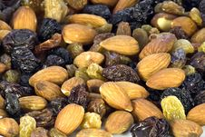 Free Almond Nuts And Raisin Stock Photography - 13039282