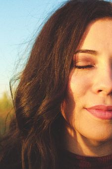 Free Close-up Photo Of Woman Closing Her Eyes Royalty Free Stock Photography - 130422137