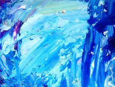 Free Blue And White Abstract Painting Royalty Free Stock Images - 130422949