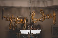 Free Happy B.day Balloon Wall Decors Royalty Free Stock Photo - 130423225
