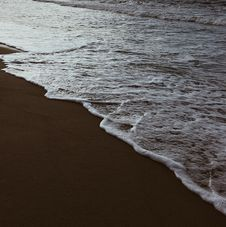 Free Sea Foam On By The Beach Stock Images - 130423324