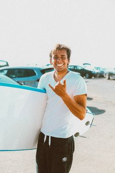 Free Photo Of Person Holding Surfboard Stock Image - 130423711