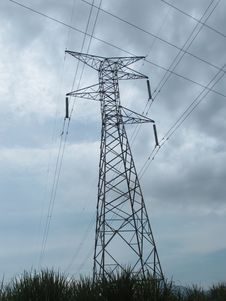 Free Transmission Tower, Overhead Power Line, Electricity, Sky Stock Photo - 130472170