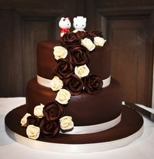 Free Wedding Cake, Cake, Chocolate Cake, Sugar Cake Stock Images - 130472544