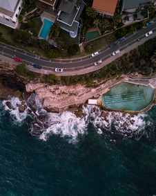 Free Aerial Photography Of Road Stock Photography - 130492102