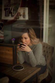 Free Photo Of Woman Drinking Coffee Stock Photo - 130492280