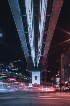 Free Timelapse Photo Of Intersection Under A Bridge Royalty Free Stock Photography - 130492417