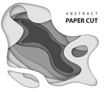 Free Vector Background With White And Gray Color Paper Cut Shapes. Stock Images - 130540544
