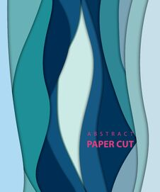 Free Vector Background With Deep Blue Color Paper Cut Shapes. Royalty Free Stock Photo - 130540545