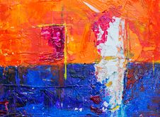 Free Photo Of Abstract Painting On Canvas Royalty Free Stock Photos - 130575218