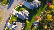 Free Bird S Eye View Of Three Houses Royalty Free Stock Images - 130575259