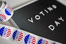Free I Voted Sticker Lot Stock Photo - 130575320