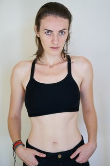 Free Woman In Black Sports Bra Stock Images - 130575544