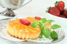 Free Apricot Tart With Lemon Balm Stock Photos - 13063643