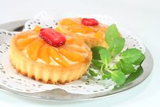 Free Apricot Tart With Lemon Balm Stock Images - 13063684