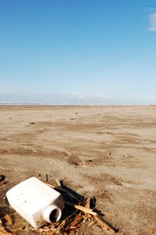 Free Litter On The Beach Stock Photography - 13077962