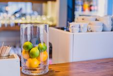 Free Citrus Fruits In A Glass Stock Photography - 130706742