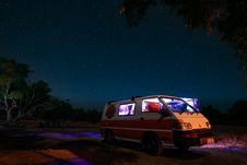 Free White And Orange Mitsubishi Van Royalty Free Stock Image - 130707006