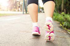 Free Photo Of Woman Wearing Pink Sports Shoes Walking Royalty Free Stock Photos - 130895708