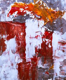 Free White And Red Abstract Painting Royalty Free Stock Images - 130895799