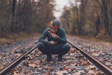 Free Photo Of Man On Railway Royalty Free Stock Photo - 130896225