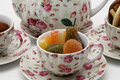 Free Afternoon Tea With Candy And Chocolates Close-up Stock Image - 1312041