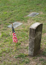 Free Tombstone And US Flag Royalty Free Stock Photo - 1319315