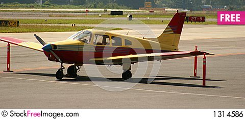 Free Red And Yellow Plane Royalty Free Stock Image - 1314586