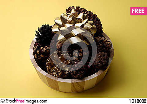 Fall - Scented Pinecones Stock Photo